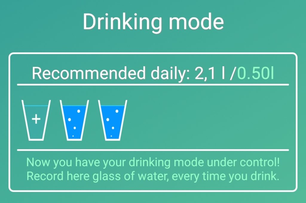 drinking mode app screenshot